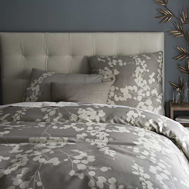 moonflower duvet cover contemporary duvet covers and. Black Bedroom Furniture Sets. Home Design Ideas