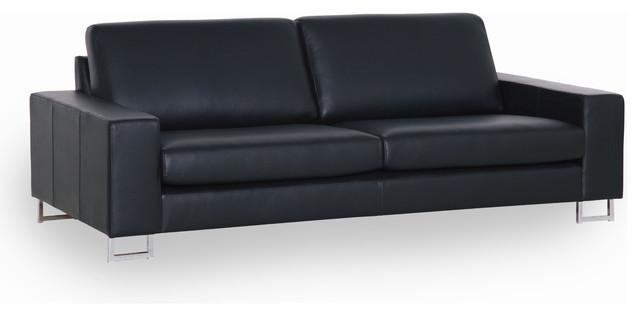 Sits quattro leather 2 seater sofa contemporary sofas for Sofa quattro