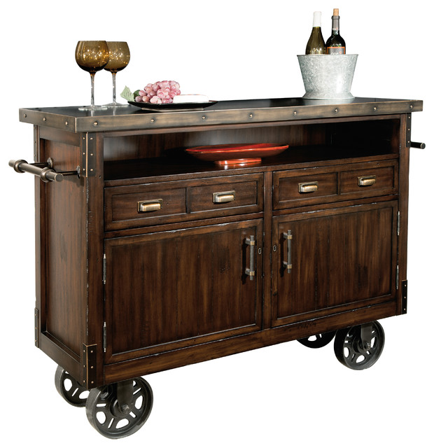 Howard Miller Barrows Wine and Bar Cabinet - Bar Carts - by Howard Miller