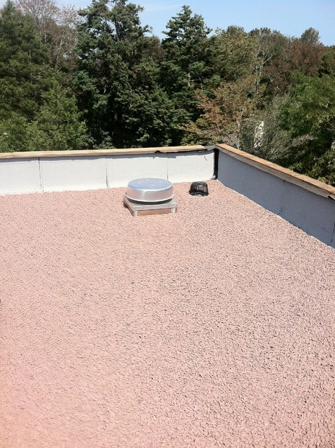 Long Island Roofing Hot Tar Stone Roof Southampton