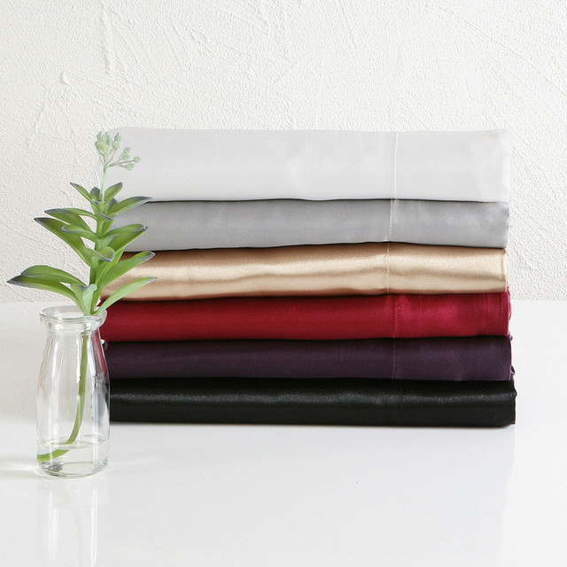 Sacha Satin Sheet Set Contemporary Sheet And