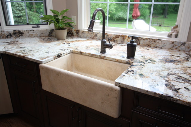 Stone Farmhouse Sink Traditional Kitchen Sinks Cleveland By Architectural Justice