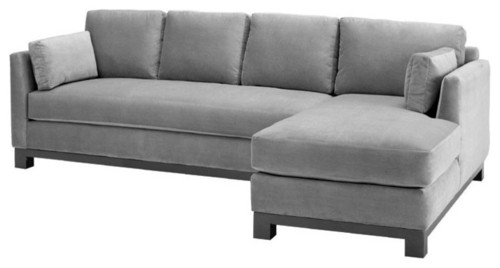 Avalon 2-Piece Sectional Sofa, Stone, Chaise on the Left