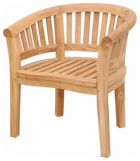 anderson teak patio lawn garden furniture curve armchair