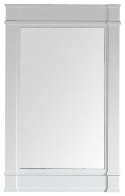 madison 26 single mirror cottage white beach style On beach style bathroom mirrors