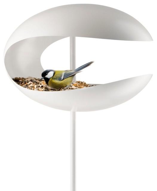 vogelfutterhaus zum aufstellen eva solo bauhaus look. Black Bedroom Furniture Sets. Home Design Ideas