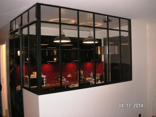 Cr ation d 39 une verri re type atelier d 39 artiste en lieu et for Cloison atelier artiste