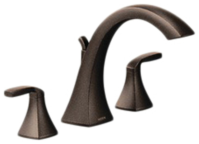 Moen T693orb Voss Series Roman Tub Faucet Oil Rubbed Bronze Modern Bathtub Faucets By