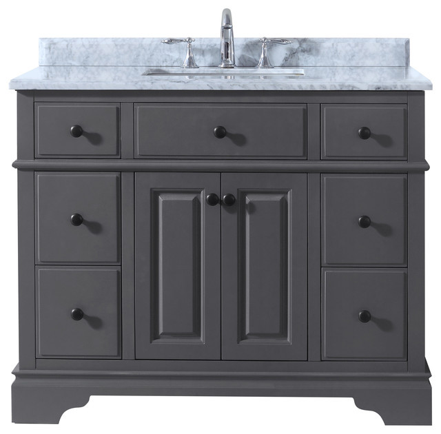 Chela bathroom vanity maple gray 42 contemporary bathroom vanities and sink consoles by for Bathroom consoles and vanities