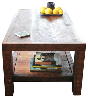 New Orleans Barge Board and Reclaimed Wood Coffee Table - Rustic - Coffee Tables - by Doorman ...
