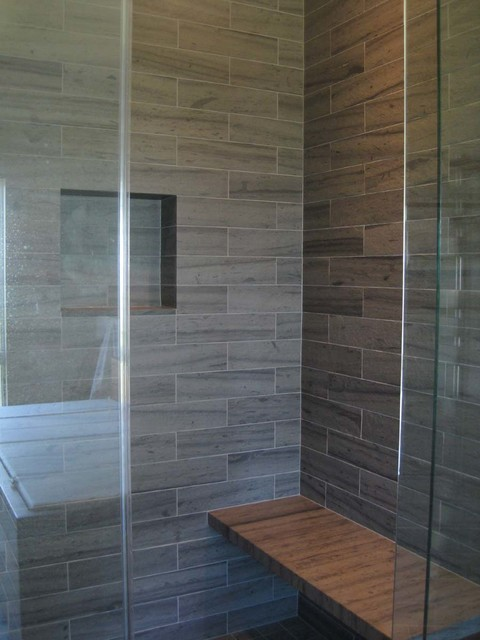 Slate Shower Surround amp Bench Tile Other Metro By