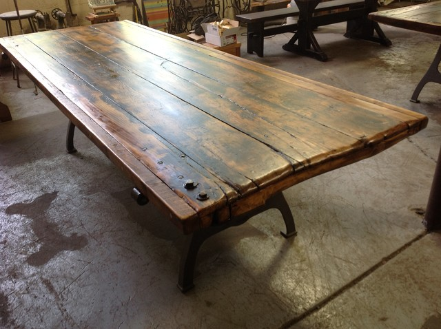 Salvaged Door Tables Traditional Dining Tables