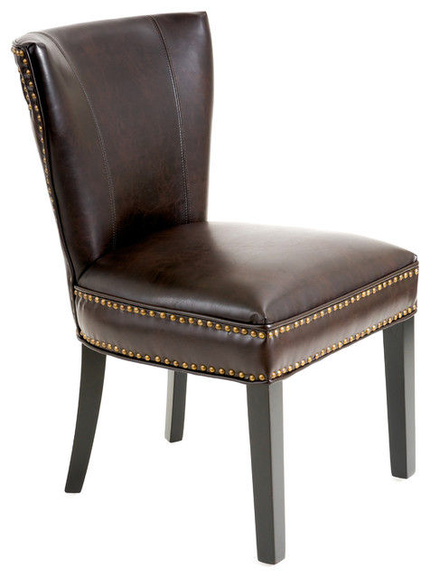 George Dining Chair Brown Leather Contemporary Dining Chairs By Great