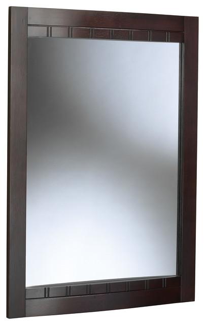 Bellani Dark Cherry Bathroom Mirror Transitional Bathroom Mirrors By Burroughs Hardwoods Inc