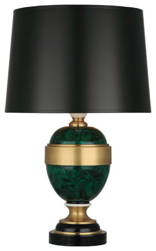robert abbey mary mcdonald firenze table lamp black shade traditional