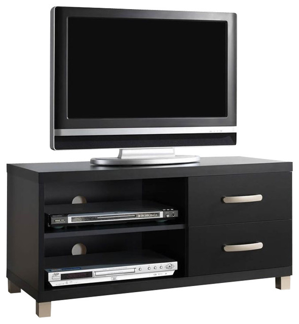 Techni Mobili TV Stand with 2 Drawer in Black for TVs Up To 37 Inch ...
