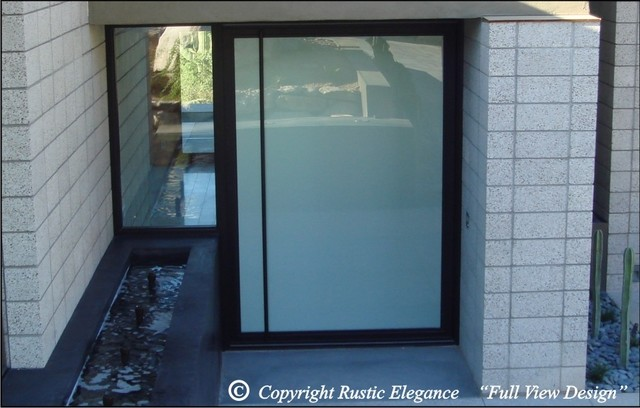 Glass pivot doors for Modern front door lights