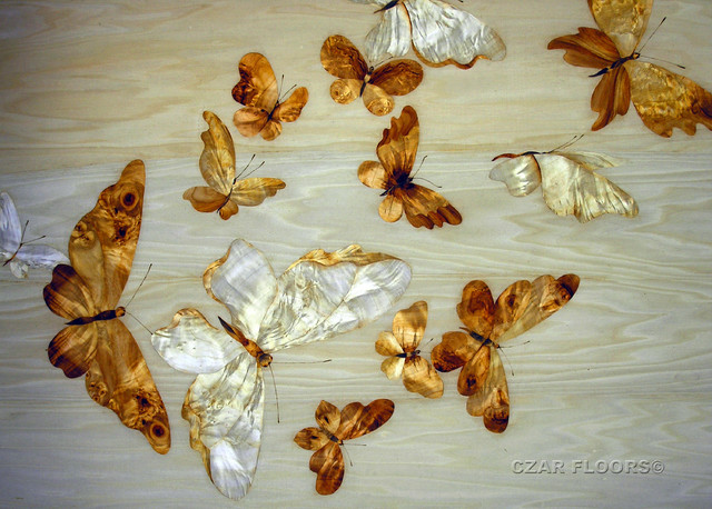 Bathroom butterfly decor - Marquetry Artwork Philadelphia By Czar Floors