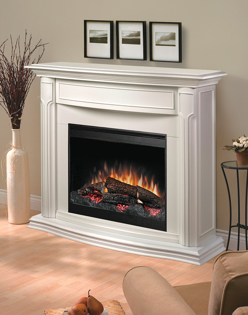 Addison White Electric Fireplace Mantel Package Dfp69139w Traditional Indoor Fireplaces