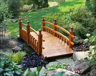 8 39 red cedar eden half picket rail bridge modern. Black Bedroom Furniture Sets. Home Design Ideas