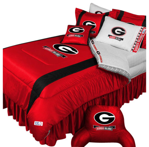 Ncaa georgia bulldogs bedding set college football bedding for Georgia bulldog bedroom ideas