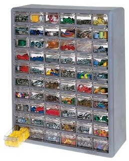 Stack-On Multi Drawer Storage Cabinet, 60 Drawer - Contemporary - Garage And Tool Storage - by ...