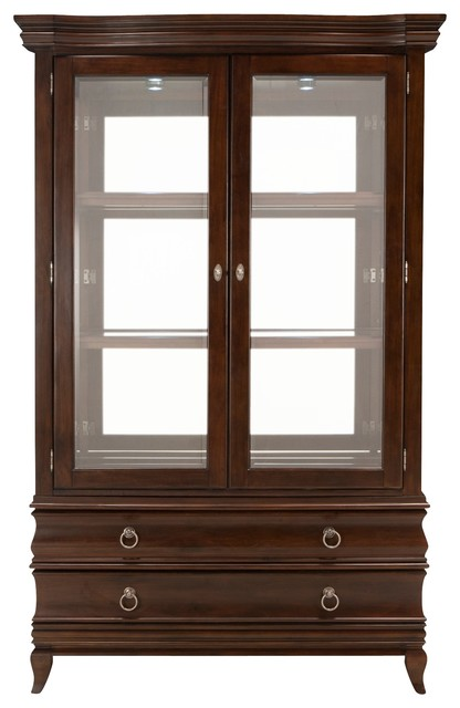 Belanie 2 Pc China Cabinet W Lighting Transitional