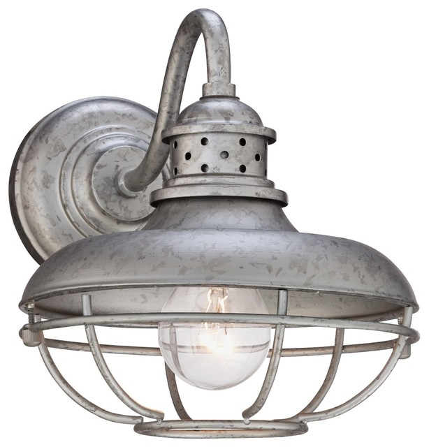 "Franklin Park Cage 9"" High Steel Outdoor Wall Light"