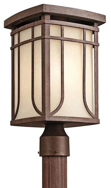 Kichler Lighting 49150AGZ Riverbank Arts And Crafts Mission Outdoor Post Lant