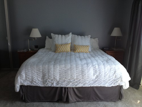 Http Www Houzz Com Discussions 507429 How To Dress Up My Master Bedroom Gray And Yellow