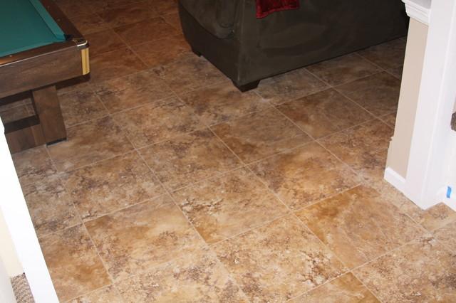 Ceramic tile in basement