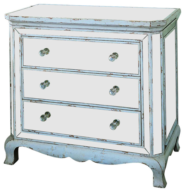 Hooker Furniture Three Drawer French Mirror Chest