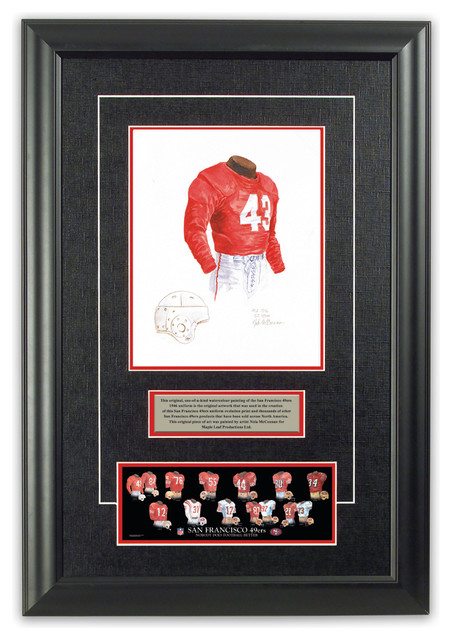 original art of the nfl 1946 san francisco 49ers uniform. Black Bedroom Furniture Sets. Home Design Ideas