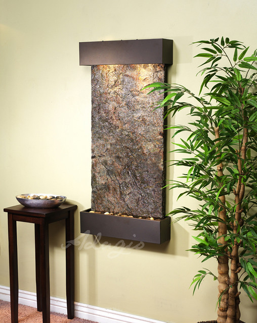 Slate wall mounted water features the whispering creek - Wall mounted water feature ...