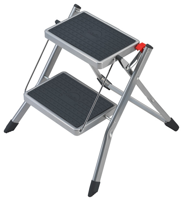 Hailo Mini Step Stool In Silver Contemporary Step