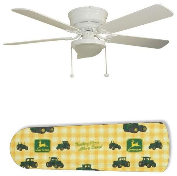 "Minka Aire 52 Gauguin Tropical 4 Blade Indoor Outdoor: Classic John Deere 52"" Ceiling Fan With Lamp"