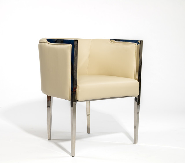 Stainless steel lounge chair contempor neo sillones y - Sillones contemporaneos ...