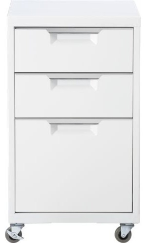 TPS white file cabinet - Modern - Filing Cabinets