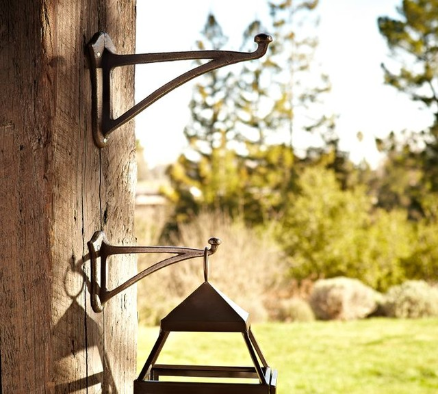 Wall Mounted Lantern Hook Traditional Outdoor Decor