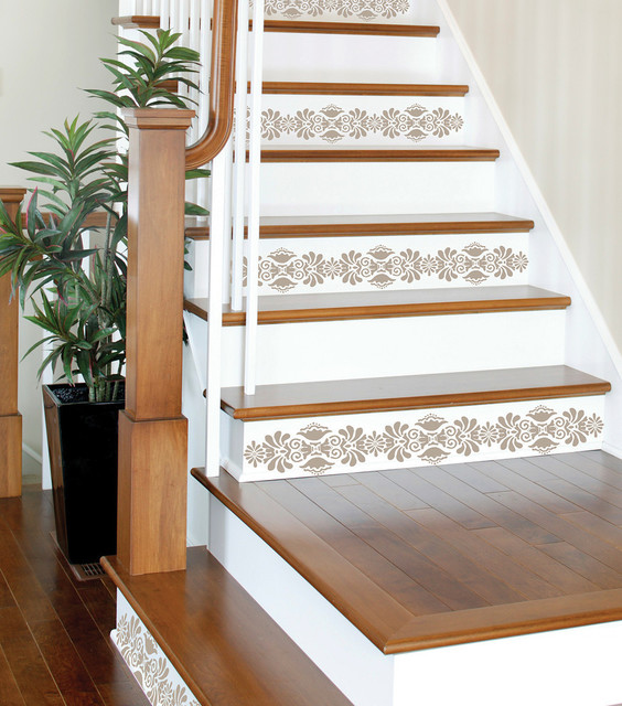 kolkata stripes stairs set of wall decals contemporary wall decals by wallpops. Black Bedroom Furniture Sets. Home Design Ideas