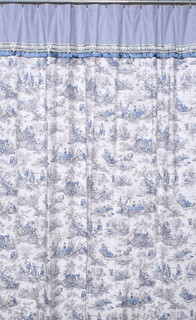 Extra long ready made shower curtain, Four Seasons Toile ...