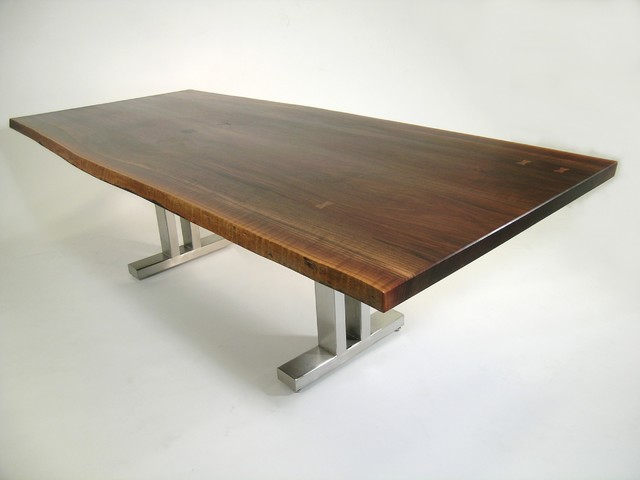 Live edge dining table contemporary dining tables for Modern dining chairs toronto