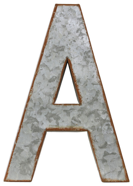 Metal alphabet wall decor letter a industrial wall Wall letters decor
