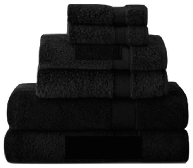 Signature Zero Twist Towel Black Bath Towel Classico