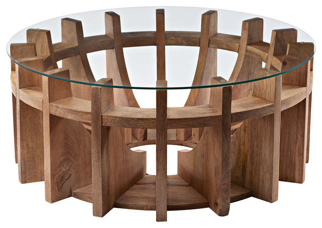 Sundial Coffee Table Tropical Coffee Tables By Modern Decor Home