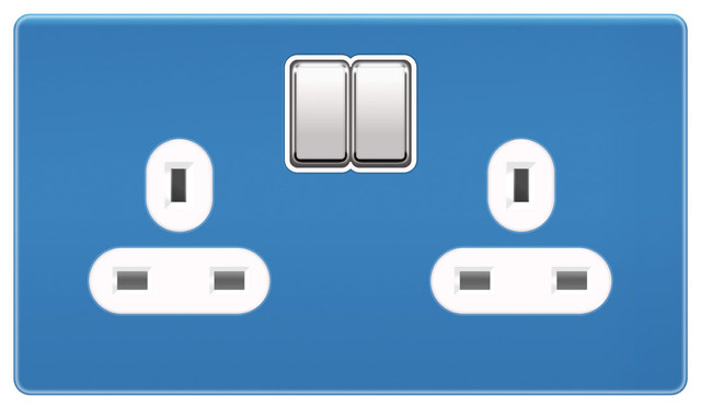Funky power sockets 2 gang modern light switches plug sockets south west by too jazzy - Modern switches and sockets ...