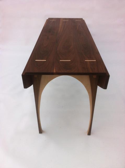 Drop Leaf Hall Console Game Table Solid Walnut 66 X45