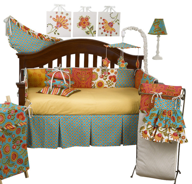 Gypsy 8pc crib bedding set modern baby bedding by cotton tale designs - Modern baby bedding sets ...