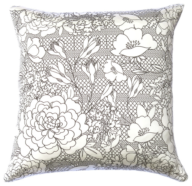 Decorative Pillows With Lace : Freya Lace Silk Cushion - Eclectic - Decorative Pillows - london - by INSPACES