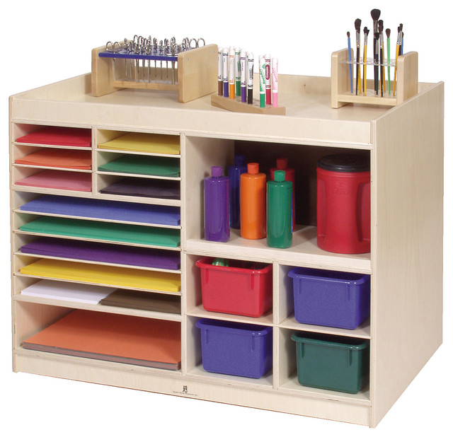 Steffywood Mobile Kids Child Art Paint Storage Cabinet ...